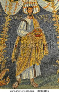 stock-photo-the-apostle-and-traitor-judas-escariot-carrying-a-crown-in-veiled-hands-ancient-roman-mosaic-from-88938115